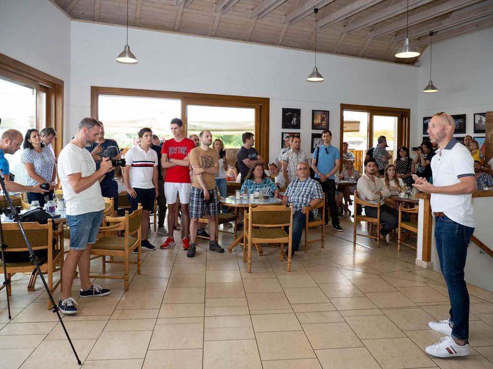 Bánhalmi Norbert megnyitóbeszéde – Fotó: Dékány Zsolt