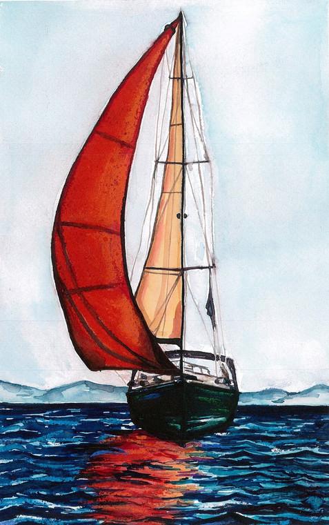 Bernát Sára - A piros vitorlás