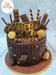 Chocoholic 40th Birthday Cake