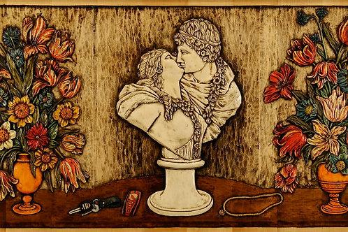 Il Bacio - The Kiss cm 116 x 62 ( 46 x 25 inch )