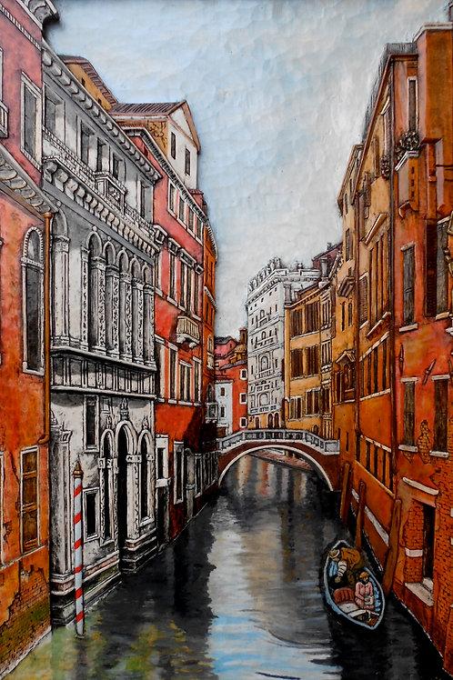 Vicolo Veneziano - Venetian Alley cm 51 x 75 ( 20 x 29 inch )