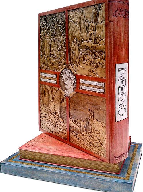 La Divina Commedia - INFERNO cm 40 x 26 x 60 ( 16 x 10 x 24 inch )