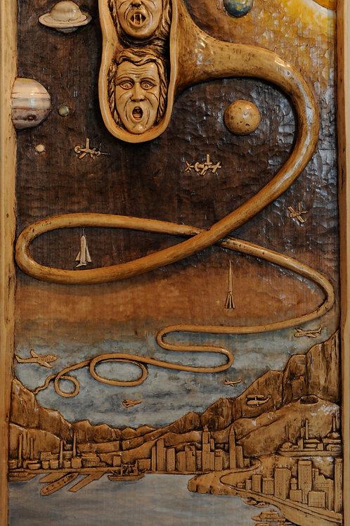 L'Urlo della Terra - The Earth Scream  cm 34 x 64  ( 13 x 25 inch )