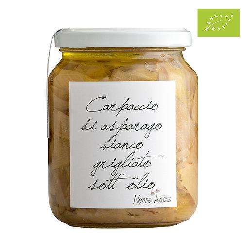 Carpaccio di asparago bianco grigliato sott'olio BIOLOGICO
