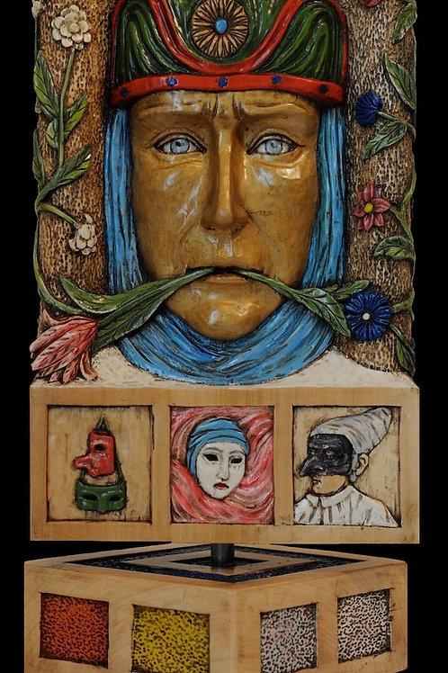 Le Maschere Fiorite - Blossom Masks  cm 25 x 46  ( 10 x 18 inch )