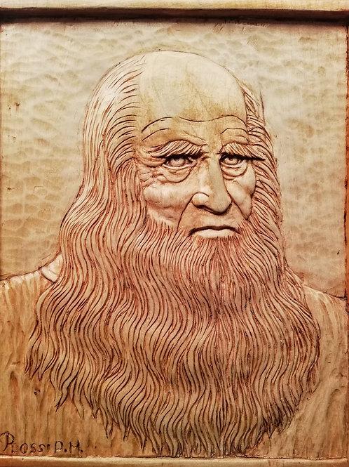 Leonardo Da Vinci cm 32 x 38 ( 13 x 15 inch )