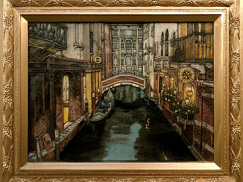 Crepuscolo Veneziano - Venetian Nightfall cm 58 x 47 ( 22 x 18 inch )