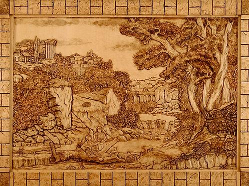 Capriccio Ottocentesco - 19th Century Caprice  cm 105 x 75  ( 41 x 29 inch )