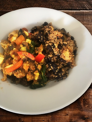 Veggie Ackee Stew - Black Bean and Plant