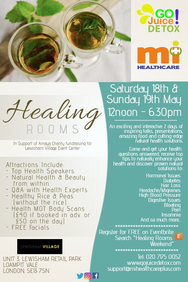 The healing rooms weekender