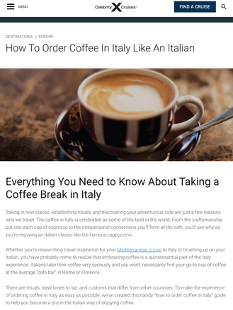 How to Order Coffee in Italy Like an Italian
