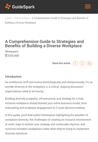 Building a Diverse Workplace | GuideSpark