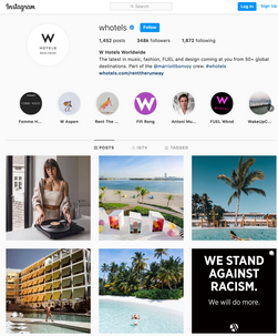 Account: W Hotels