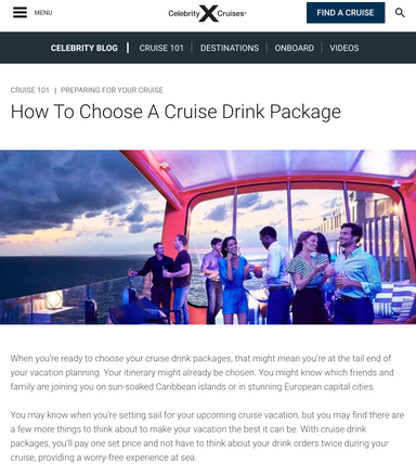 How to Choose a Drink Package