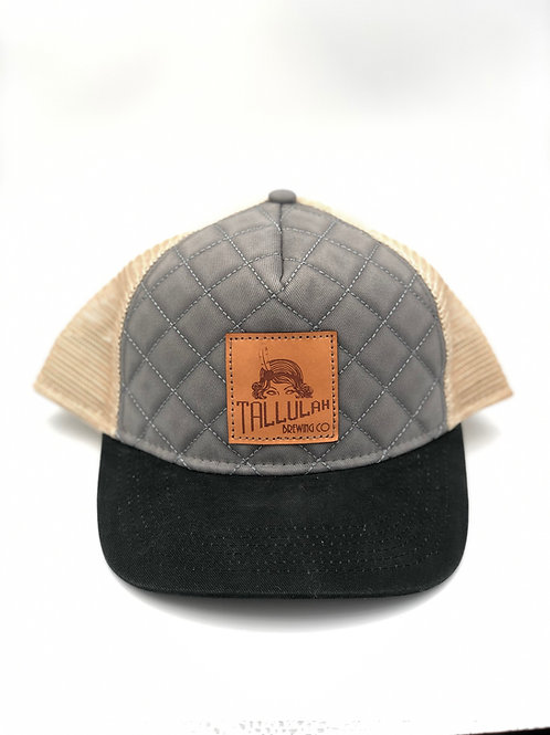 Canvas Hat with Leather Patch