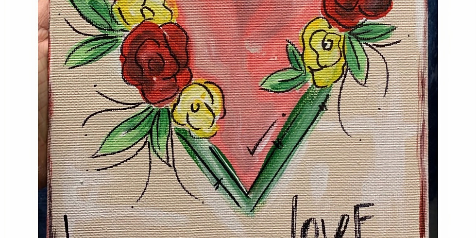 Galentines Canvas Painting