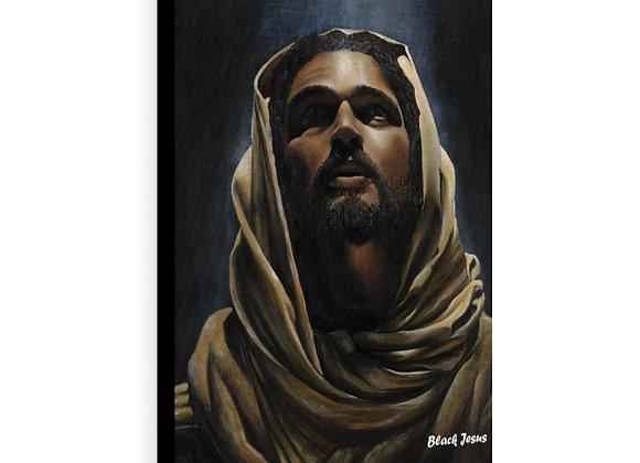 Black Jesus Canvas Gallery Wraps
