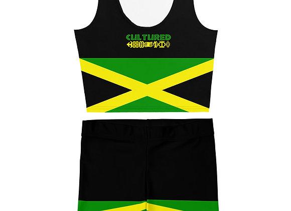 Cultured Jamaica Crop/Short Set