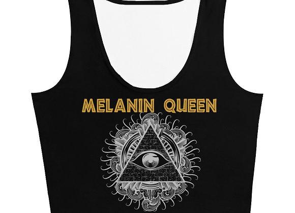 Melanin Queen Cut & Sew Crop Top (Black)