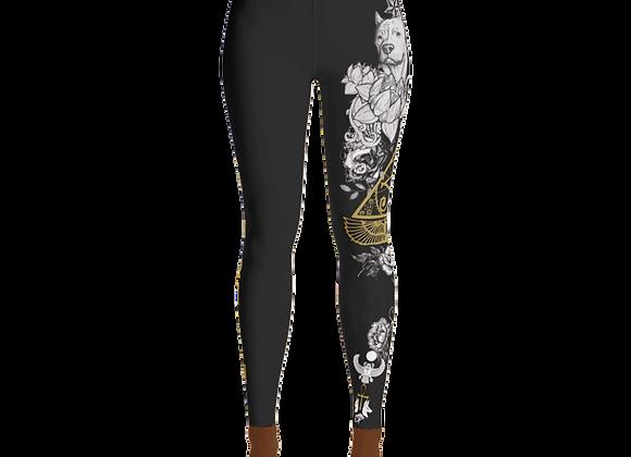 Black Yoga Leggings (Melanin Queen)