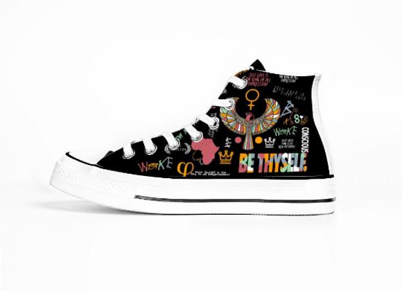 Be Thy Self Chucks (High Top Sneakers)