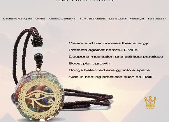 Third Eye 7 Chakra Orgone Stones Reiki Crystal Orgone Necklace