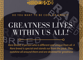 Greatness within us!