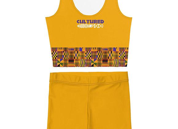 Cultured African Print Crop/Short Set