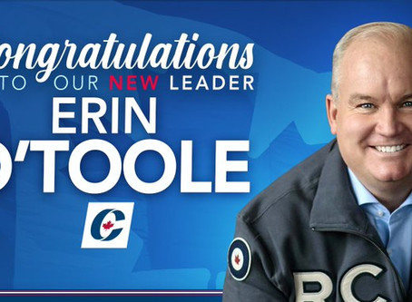 Congratulations To Our New Leader: Erin O'Toole!