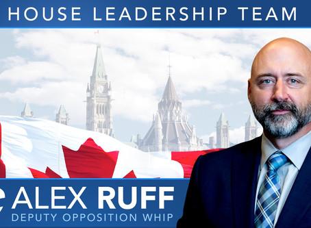 Alex Ruff named Deputy Opposition Whip