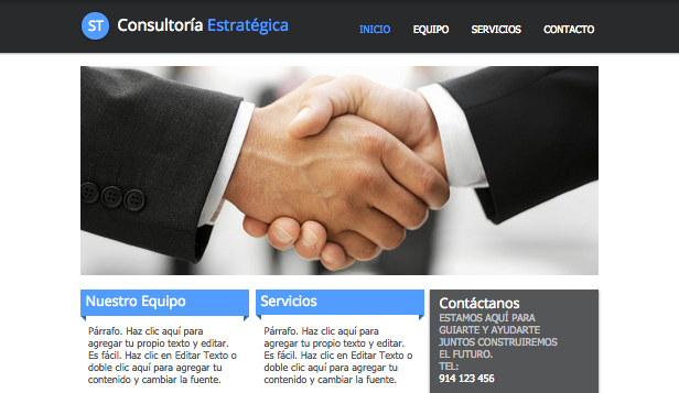 Comunicación y Marketing plantillas web – Consultoría estratégica