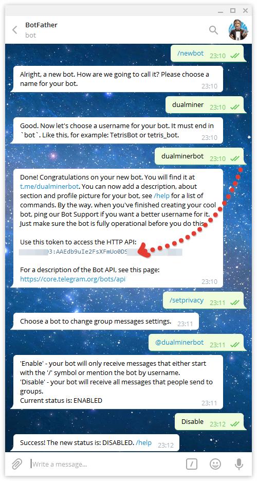 Создание нового бота в Телеграме