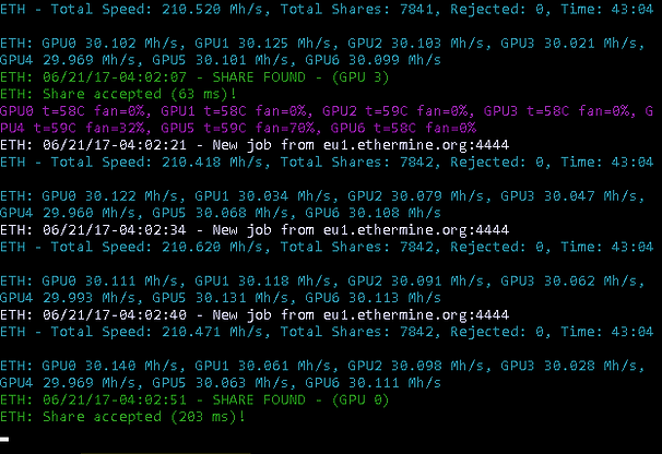 ZecMiner64.exe - Claymore's ZCash AMD GPU Miner