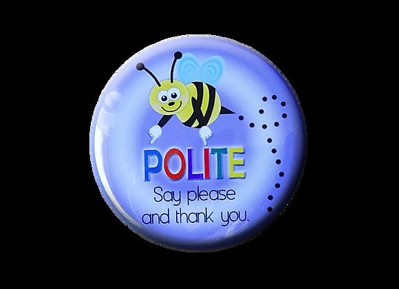 Bee Polite Teacher Topper