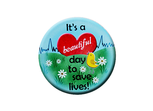 It's a Beautiful Day to Save Lives Sunrise Nurse Badge Topper