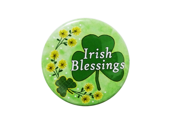 St. Patrick's Day Irish Blessings Floral Badge Reel Topper