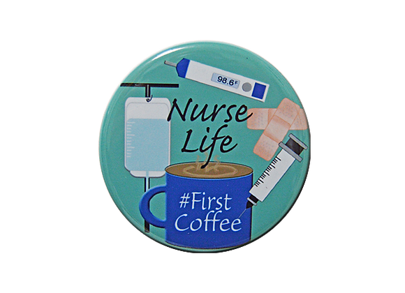 Nurse Life #First Coffee Badge Topper