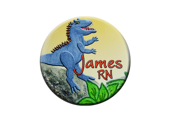 Prehistoric Dinosaur Badge Reel Topper
