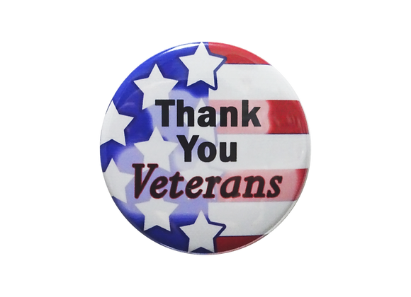 Thank You Veterans Stars and Stripes Topper