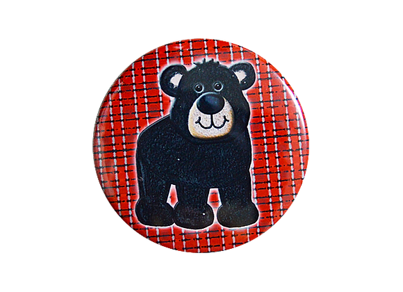 Black Bear Badge Reel Topper