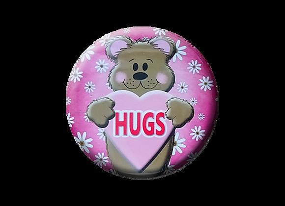 Bear Hugs Daisies Pink Pediatric Topper