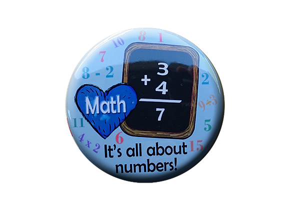 Math It's All About Numbers Teacher Topper