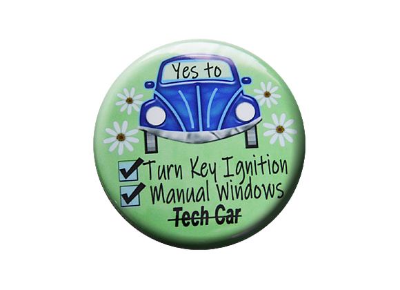 Turn Key Ignition, Manual Windows Badge Reel Topper