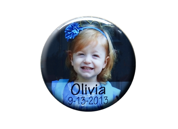 Personalized Birthday Photo Button Magnet
