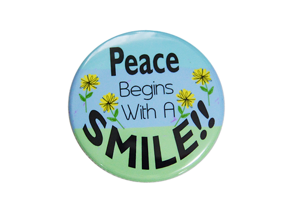 Peace Begins With A Smile Nurse Badge Reel Topper