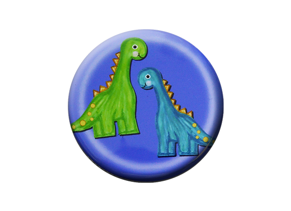 Dinosaur Twins Pediatric Badge Reel Topper