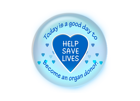Organ Donor Transplant Nurse Badge Reel Topper