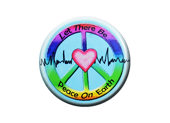 Let There Be Peace On Earth Heartbeat Badge Topper