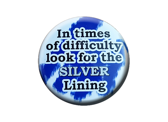 Silver Lining Badge Reel Topper