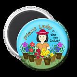 Plant Lady Floral Magnet